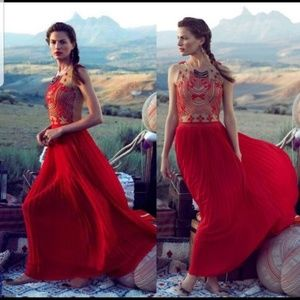 Anthropologie Rina Dhaka Rubied Dusk Maxi Dress